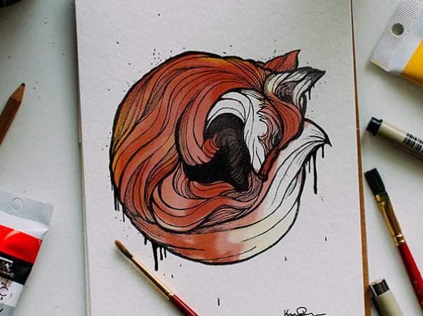 Designer-Draws-One-Animal-Per-Day-for-Newborn-Son3__605